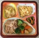豚肉と温野菜の和風オニオンソース