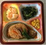 豆腐バーグのきのこソース