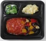 ハンバーグと野菜